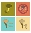 assembly flat icons nature disaster tornado vector image vector image