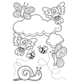 Baby animals coloring book vector image