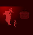 bahrain map abstract schematic from red triangles vector image vector image