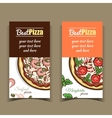 Banners Seafood Margherita Pizza vector image
