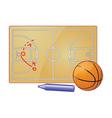 Basketball play board vector image vector image