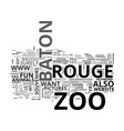 baton rouge zoo text word cloud concept vector image vector image