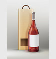 bottle with packing vector image vector image