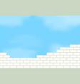 brickwork against the sky vector image