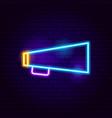 bullhorn neon sign vector image vector image