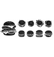 burger icons set simple style vector image vector image