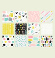 collections of colorful seamless pattern vector image