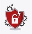 Data protection and yber security system design vector image
