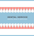 dental poster with frame of row of teeth vector image vector image