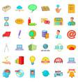 digital market icons set cartoon style vector image vector image