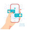 doctor online concept in flat style vector image