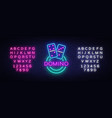 domino neon logo domino neon sign design vector image vector image
