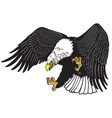 eagle in the fly tattoo vector image vector image