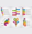 educational infographics template infographics vector image