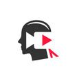 entertainment video footage logo vector image vector image