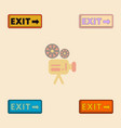 exit way sign collection in vector image vector image
