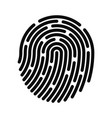 fingerprint icon fingerprint identification vector image vector image