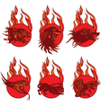 Fire Animal Emblems vector image vector image