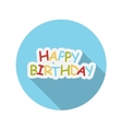 Flat Design Concept Happy Birthday With Long vector image