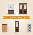 Furniture set cupboards vector image vector image