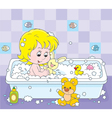 Girl bathing vector image