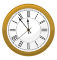 golden clock for new year and christmas design vector image vector image