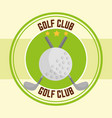 golf clubs ball sport stamp design vector image vector image