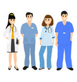 group doctors in a hospital flat design vector image vector image