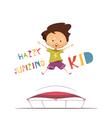 Happy Jumping Kid vector image vector image
