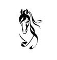 head of a horse art vector image