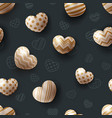 heart and love - seamless pattern vector image vector image