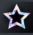 holographic star vector image vector image