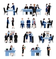 Human resources concept flat icons set vector image