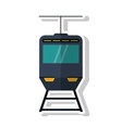 Isolated cable car ivehicle design vector image vector image