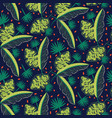 jungle woods pattern green dark blue abstract vector image