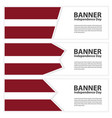latvia flag banners collection independence day vector image vector image