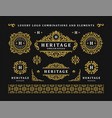 luxury logo vintage ornament monograms and crest vector image