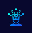 machine learning icon for web vector image vector image