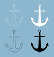 marine anchor the black and white color icon vector image vector image