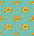 nature flower hand drawn seamless pattern vector image