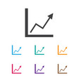 of investment symbol on graph vector image