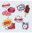 pop art cartoon set vector image