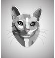 Pop art grayscale cat vector image vector image