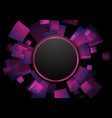 purple violet circular technology futuristic vector image vector image