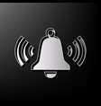 ringing bell icon gray 3d printed icon on vector image vector image