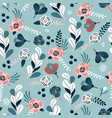 seamless pattern with eucalyptus branches flowers vector image