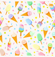seamless pattern with icecream vector image