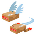 set flying mailboxes vector image
