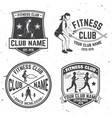 set of fitness club badges concept for vector image vector image