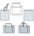 set of keycard vector image vector image